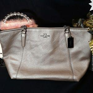 Coach Leather Textured Handbag